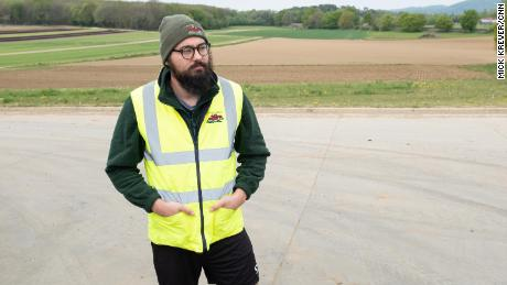 Daniel Martin, 32, is on leave from his civil engineering work.