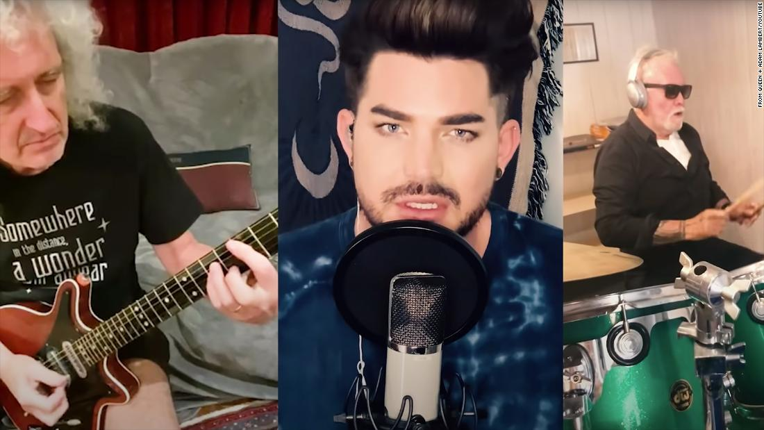 Brian May, Adam Lambert and Roger Taylor released the video Thursday.