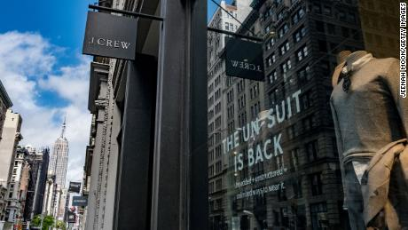J.Crew store on 5th Avenue in New York City. Retailers announced on Monday that they had filed for bankruptcy protection.