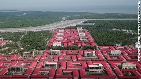 The building is intended to accommodate members of the Rohingya refugee community on the small island of Bhashan Char.