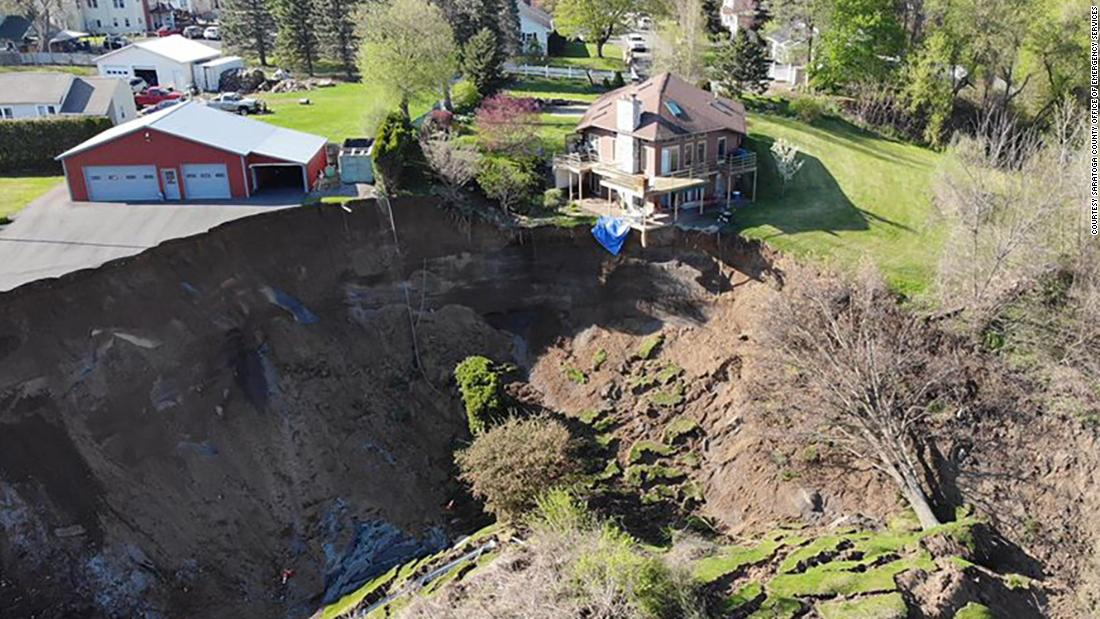 The Office of Emergency Services responded to a landslide on Middletown Road in Waterford, New York on Sunday, May 3.