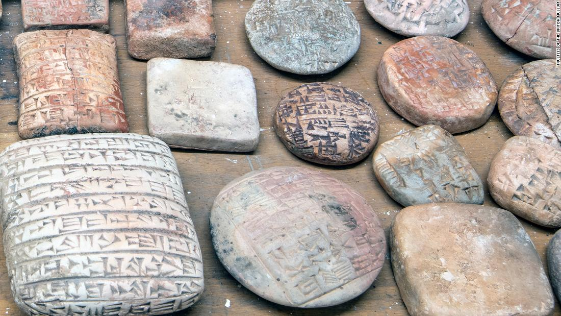 Middle Eastern clay antiques found by the fake British Museum