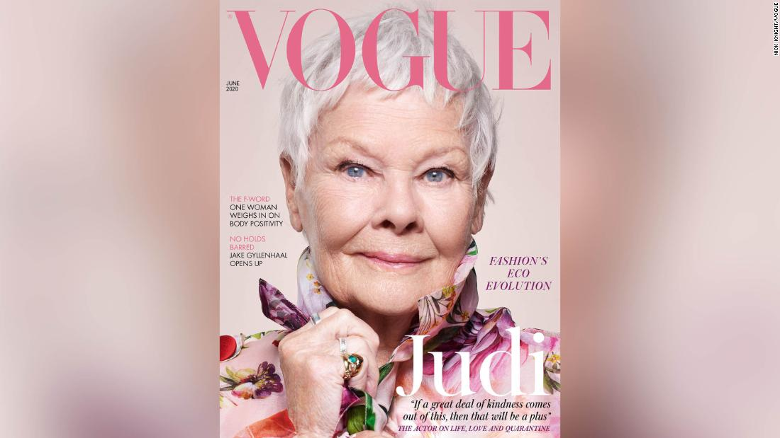 Judi Dench became the oldest cover star of British Vogue