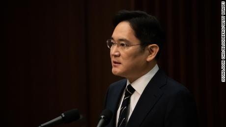 Jay Y. Lee, co-chair of Samsung Electronics, spoke at a press conference in Seoul on Wednesday.