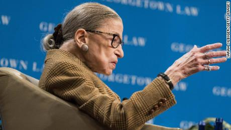 Ruth Bader Ginsburg participated in the Supreme Court's argument from the hospital