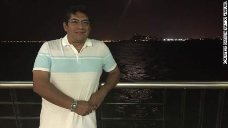 Flavio Edmundo Ramos Yagual during an evening walk in Guayaquil, Ecuador malecón- 12 December