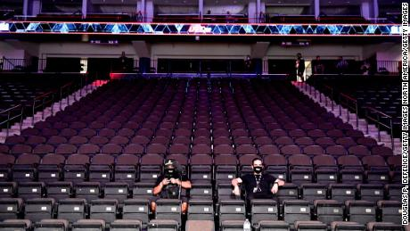 UFC 249 happened without fans on Saturday because of the ongoing coronavirus pandemic.