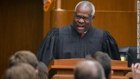 Judge Clarence Thomas has found the moment