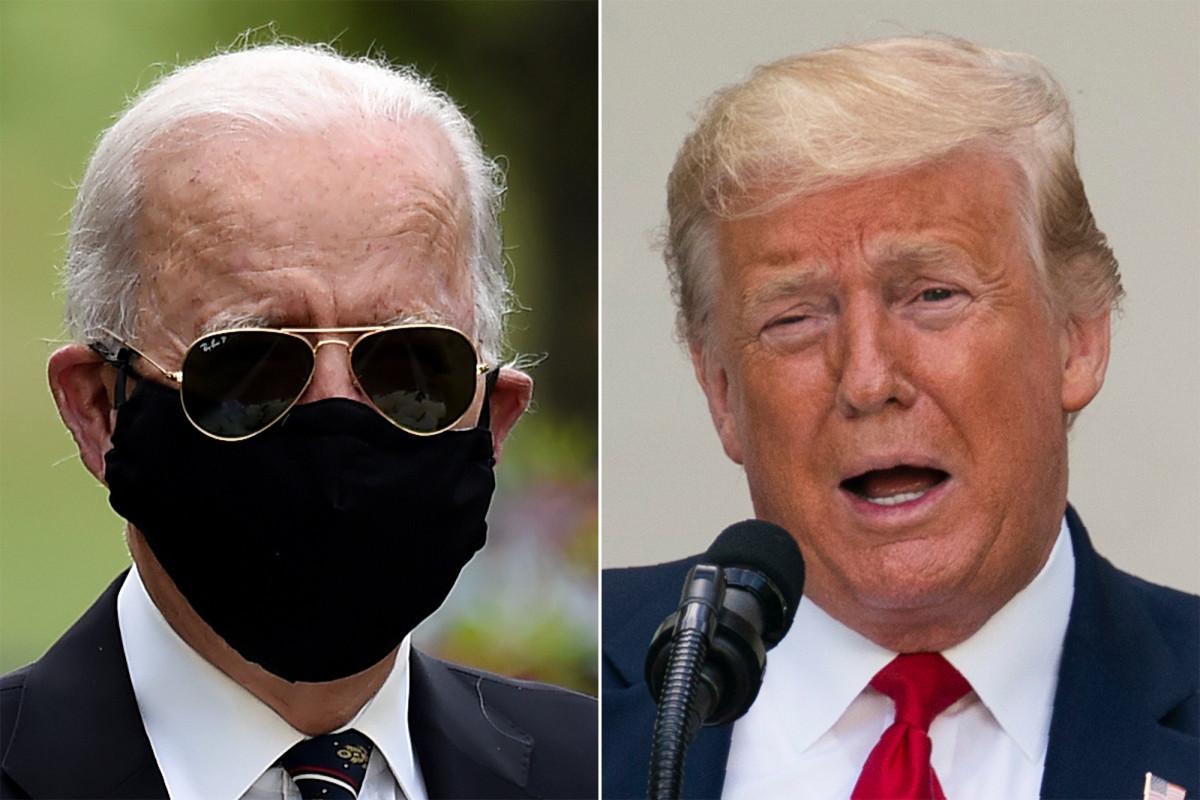 Biden calls Trump a 'complete idiot' for mocking the mask