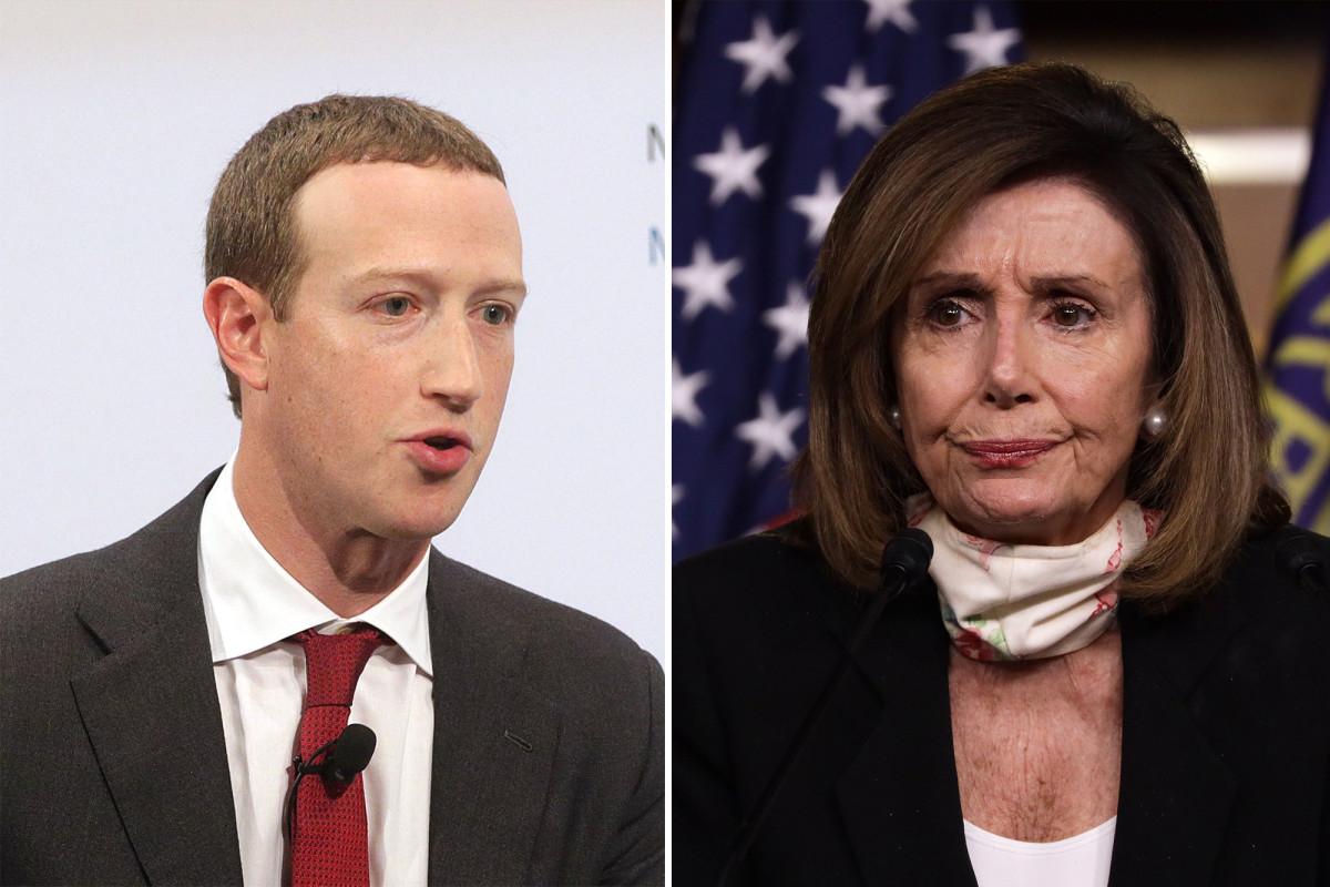 Pelosi accused Zuckerberg of 'going to the White House'