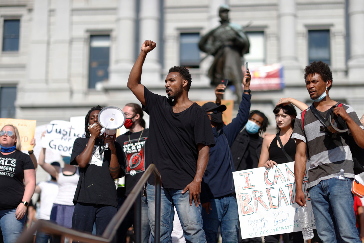The firing was during the 'tense' George Floyd protests in Denver