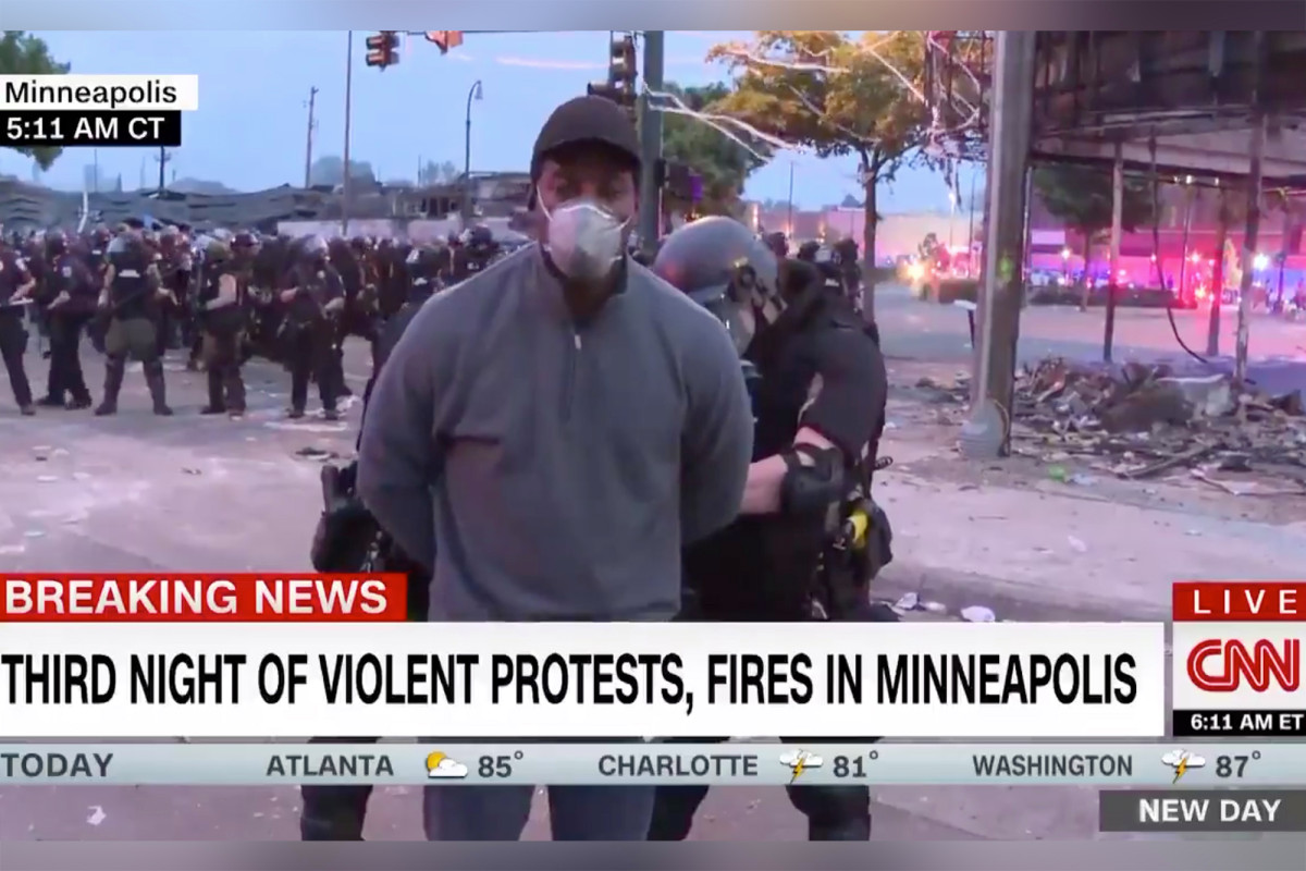 CNN crew arrested on live television amid George Floyd protests in Minneapolis