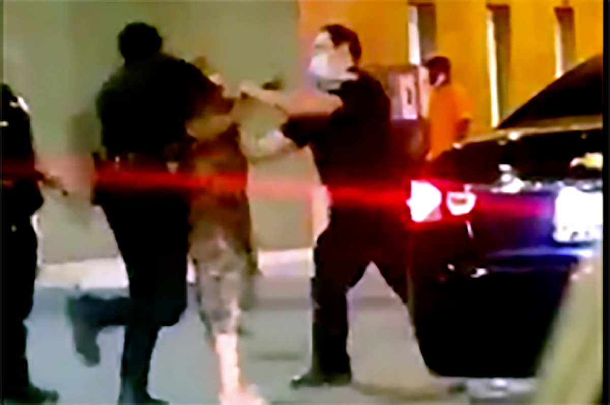 Male Baltimore Guard knocks woman off in stunning video