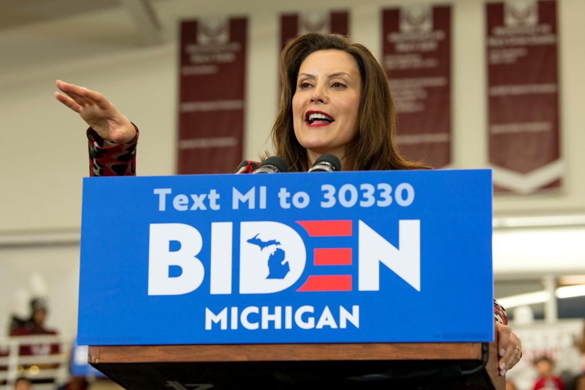 Gretchen Whitmer is Joe Biden's VP.