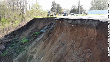 Engineers are monitoring the situation when the ground continues to slide, according to Baldwin.