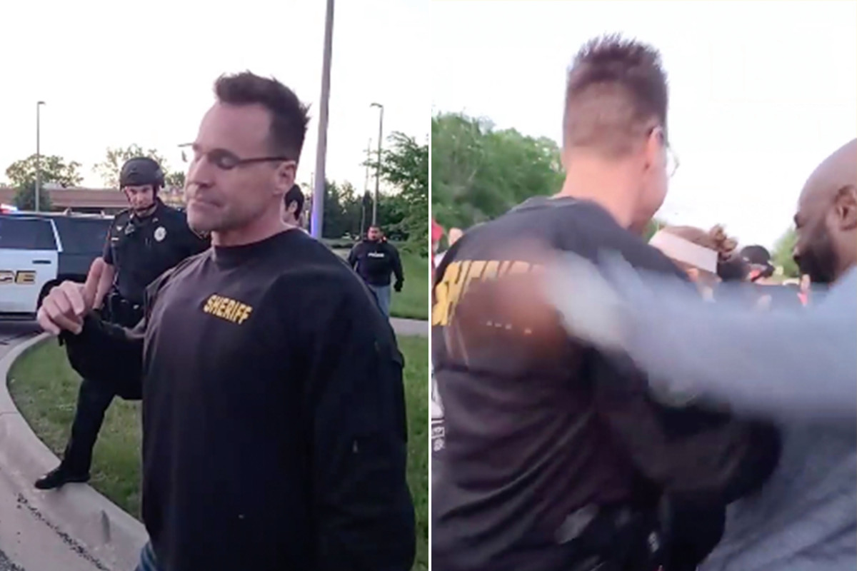 Michigan Sheriff removed riot gear to join George Floyd protesters