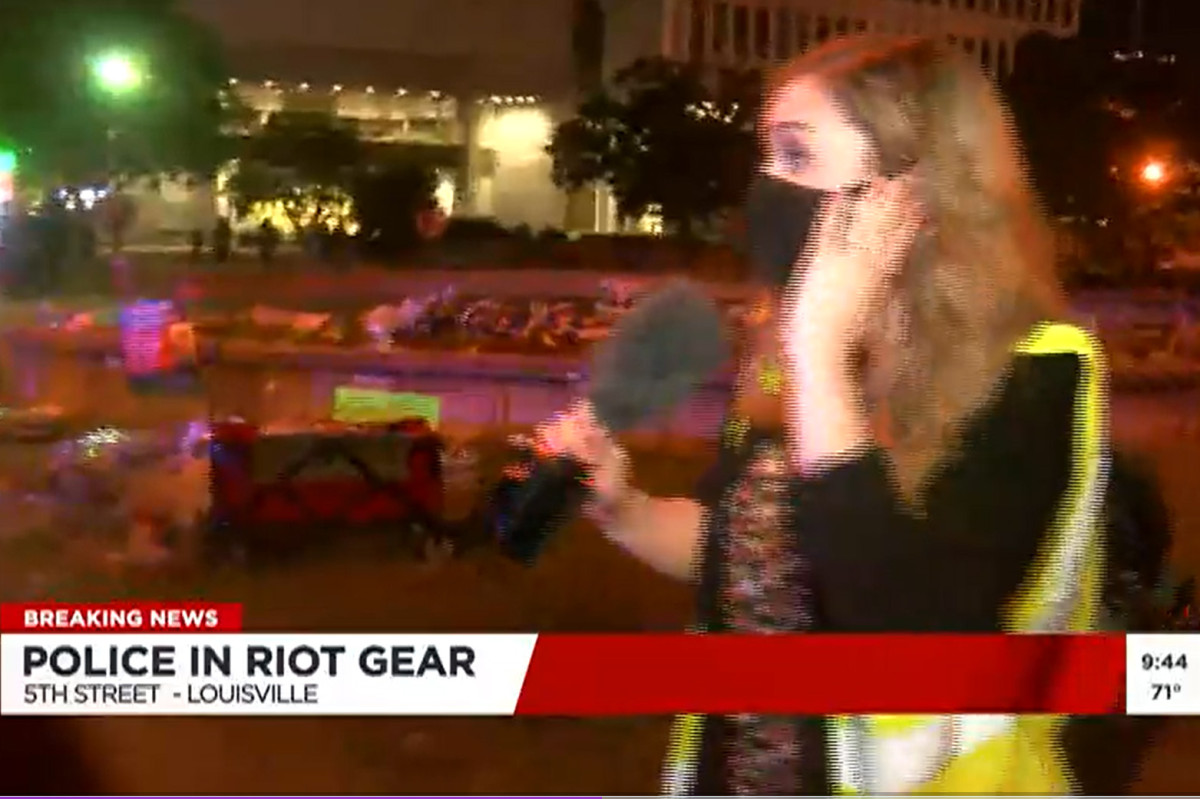 Louisville Police have been reappointed after the pepper balls were thrown at the TV crew