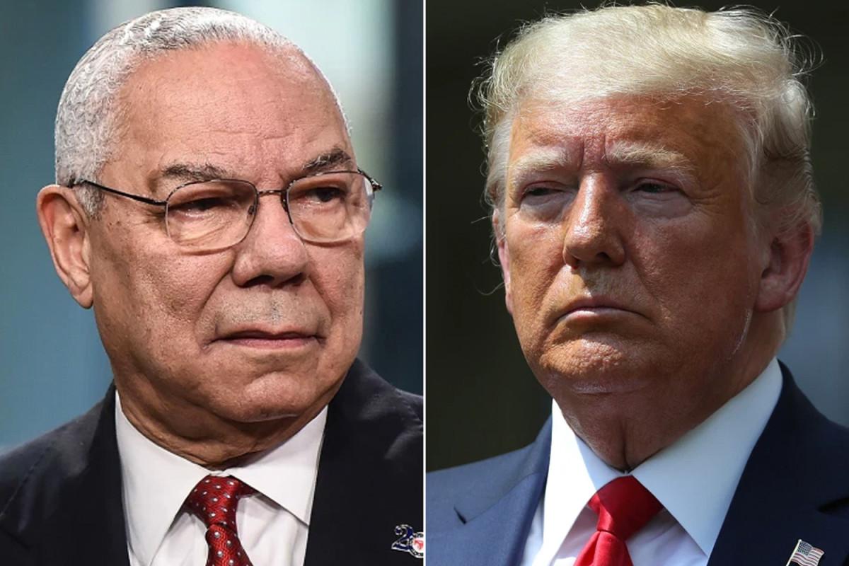 Trump calls Colin Powell the real tough guy after Biden's endorsement