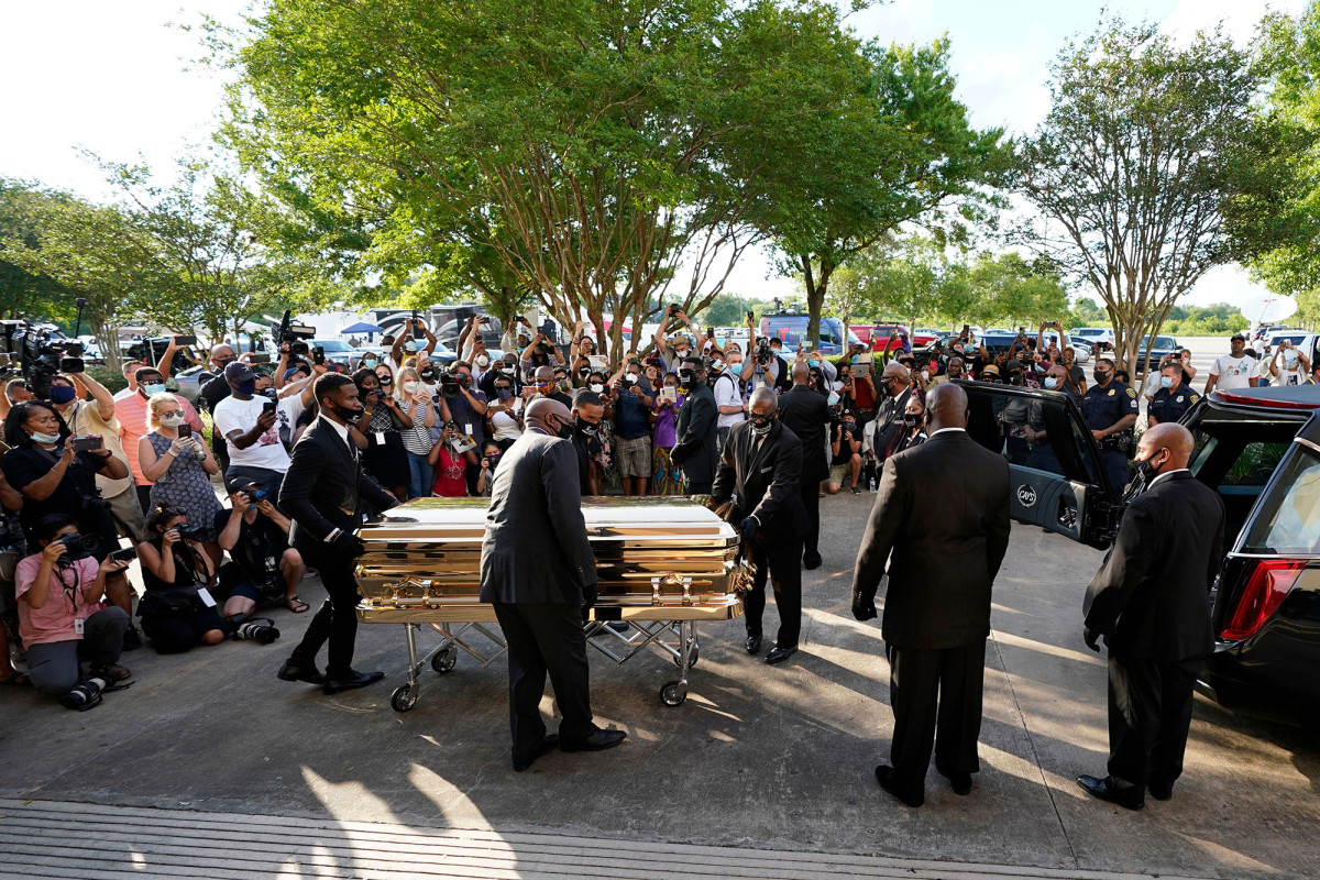 Thousands pay homage to George Floyd in the Houston church