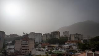 Dust particles are seen in Caracas, Venezuela, 21 June 2020.