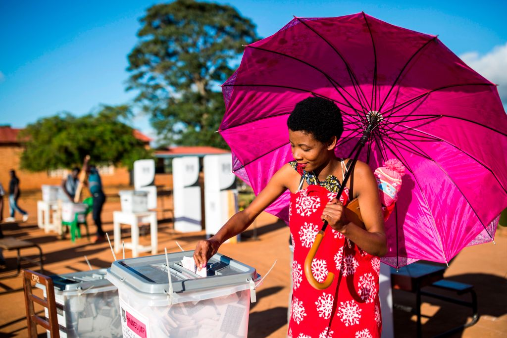A woman voting in Malawi, 21 May 2019