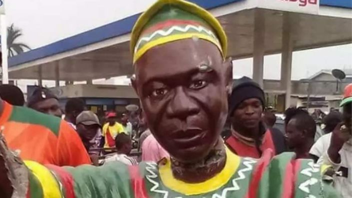 A statue of John Ngu Foncha, a leader from the Anglophone regions of Cameroon, was installed after Essama's campaign