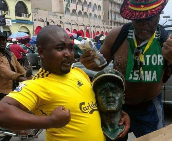 Gen Leclerc's statue is used by the activist to educate people about colonialism