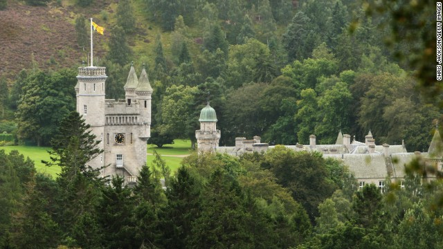 Balmoral, the Queen's Scottish residence, is being used as a public toilet