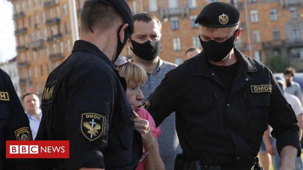 Belarus opposition protests end in arrests