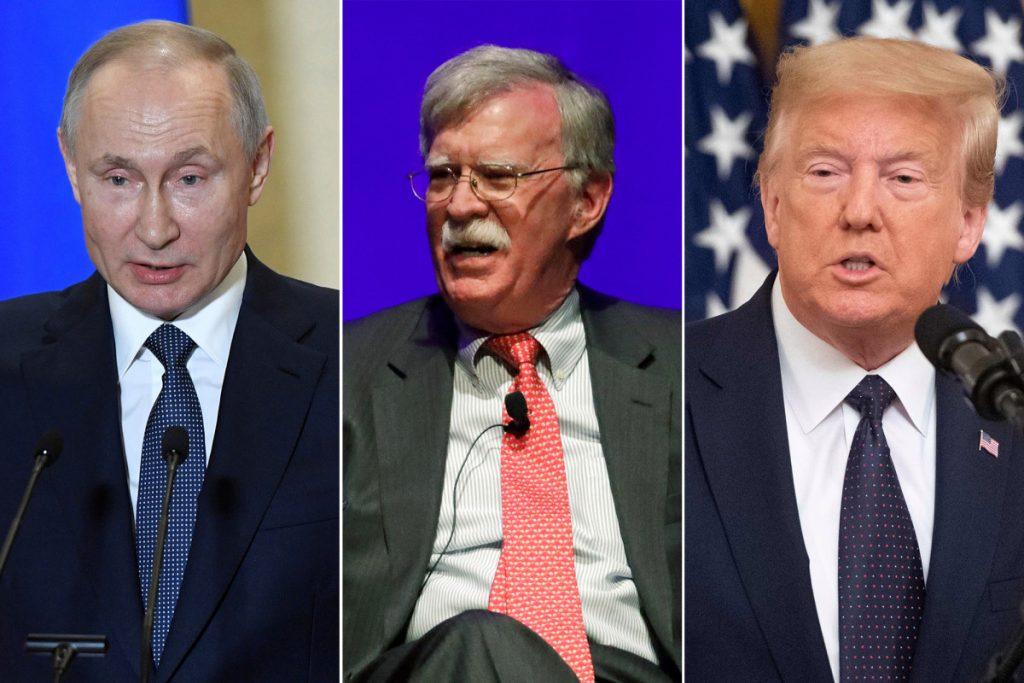 Bolton says Putin thinks he can play Trump 'like a fiddle'