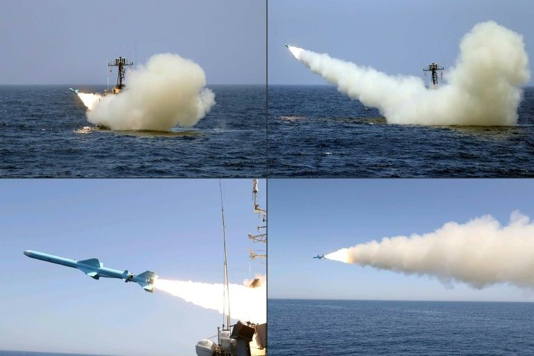 Iran navy test-fires new cruise missiles