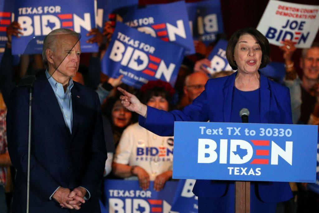 Klobuchar urges Biden to pick nonwhite woman as running mate