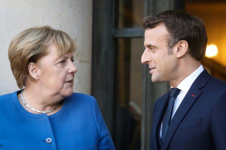 Merkel, Macron meet as Germany takes on high-stakes EU presidency