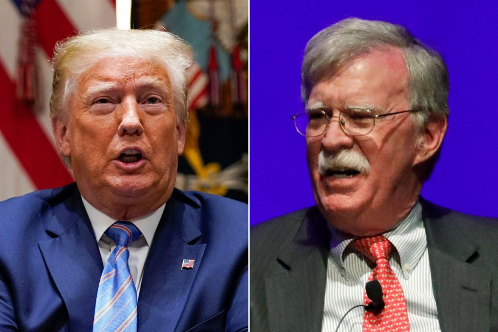 Trump says Bolton could face criminal charges for tell-all book