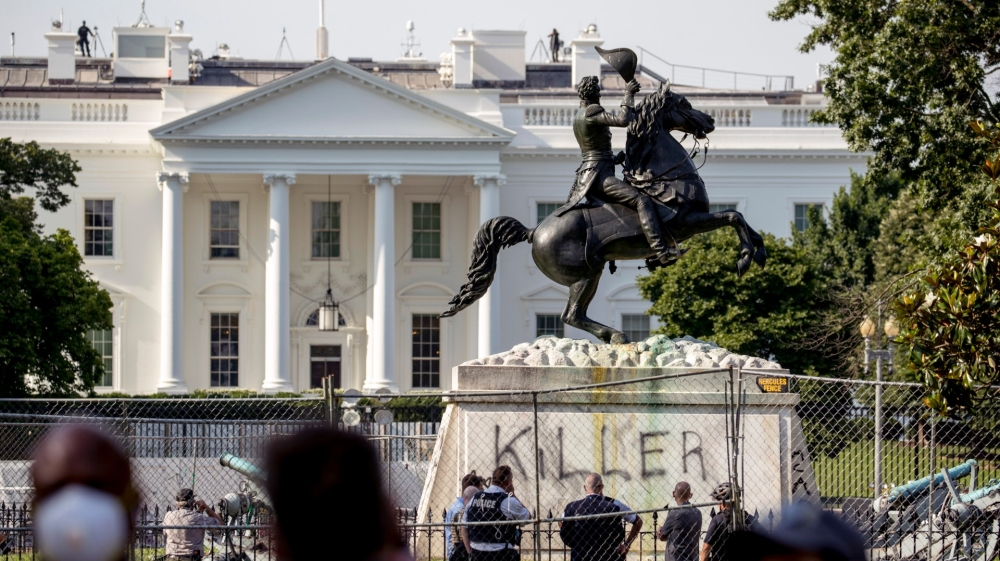 US: Four men charged for trying to topple Andrew Jackson statue | News