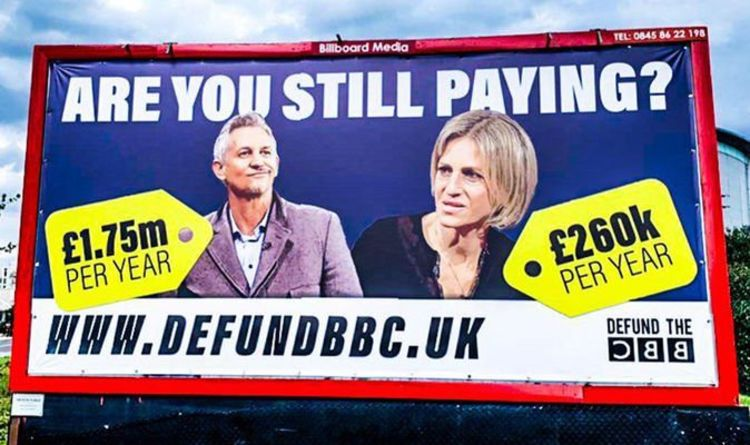 BBC News: Defund the BBC campaign launches billboards targeting Gary Lineker   UK   News