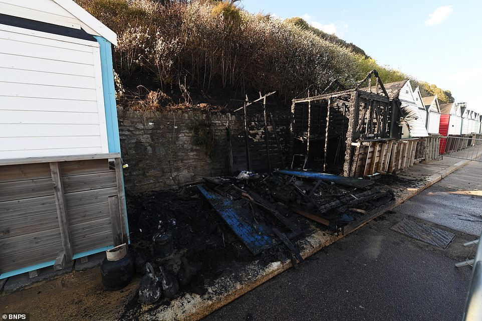 The beach huts are available to rent from Bournemouth Council and all of them are fitted with a gas cooker