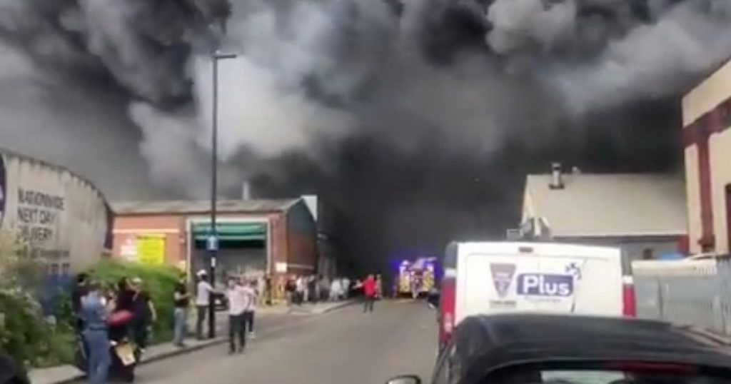 Park Royal fire: 80 firefighters tackle 'massive' London blaze