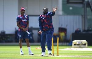 West Indies bring in spinner Rahkeem Cornwall.