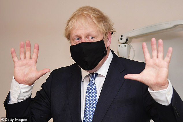 The Prime Minister declined to put a precise time scale on the new rules requiring people to wear a face covering in all shops or face a £100 fine