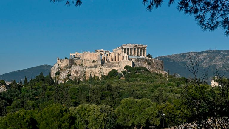 The Acropolis in Athens and other ancient Greek sites reopened on Monday