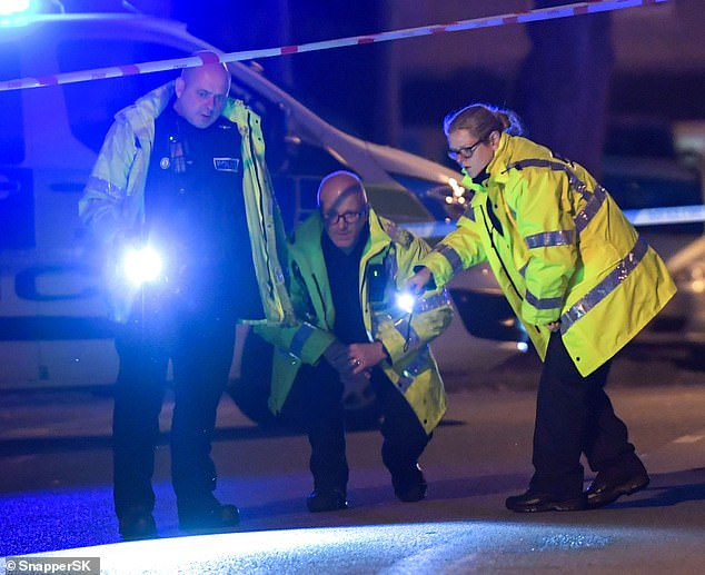 Police placed a cordon on Debenham Road in the Yardley area of Birmingham after a boy aged seven was severely injured after being hit and dragged under a BMW Mini