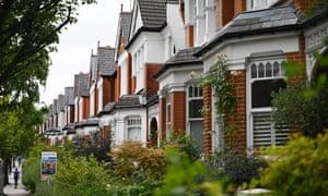 Residential properties in London in July 2020.