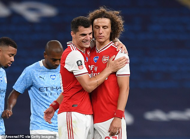 Luiz was influential as Arsenal got their revenge on City and knocked them out of the FA Cup