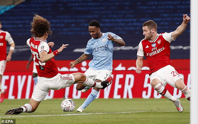 Throwing himself at every ball, Luiz helped the Gunners keep a clean sheet and make the final