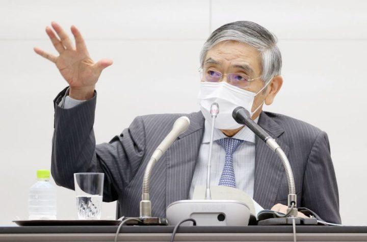 © Reuters. Bank of Japan Governor Haruhiko Kuroda speaks during a news conference, in Tokyo