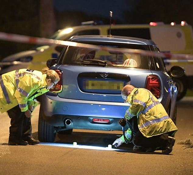 The boy was dragged along Debenham Road in Yardley after being caught under a blue Mini Cooper shortly before 7pm yesterday, according to residents