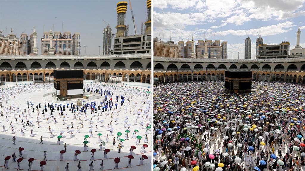 The Hajj in 2020 v the Hajj in 2019