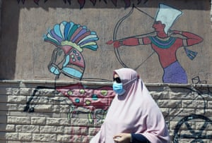 A mural on a street in Cairo.