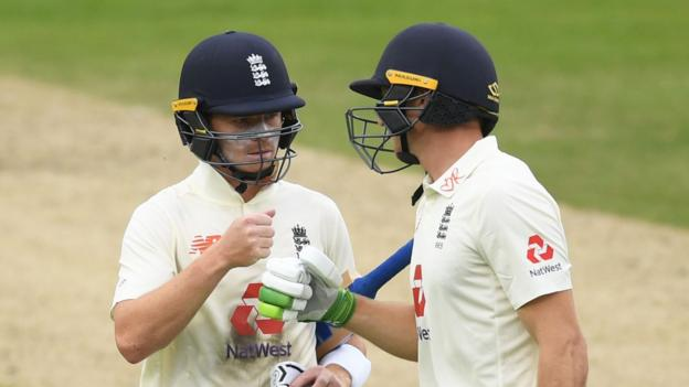 England v West Indies: Ollie Pope & Jos Buttler impress on first day of third Test
